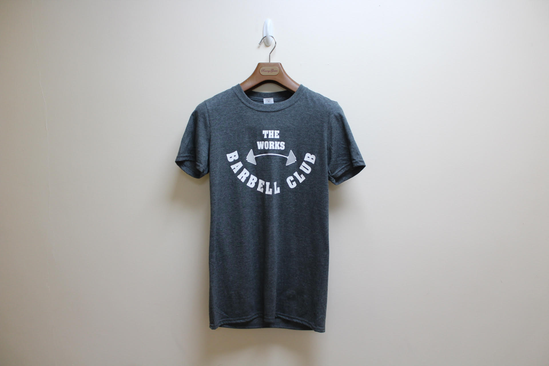 e7f342185615cd The Works Fitness Barbell Club Tshirt - The Works Fitness